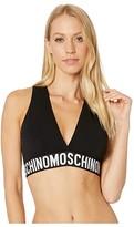 Moschino New Basic Triangle Bra (Black) Women's Bra