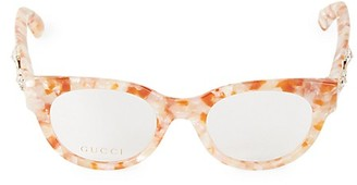 Gucci 48MM Cat Eye Optical Glasses