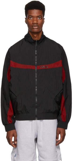 Marcelo Burlon County of Milan Black Wings Barcode Jacket