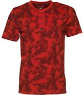 Kangaroo Poo Mens AOP Grandad Neck T-Shirt Red