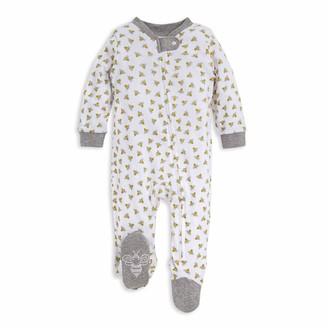 Burt's Bees Baby Baby Sleep & Play Organic One-Piece Romper-Jumpsuit PJ Zip Front Footed Pajama