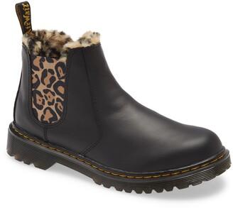 Dr. Martens Kids' Leonore Faux Fur Lined Chelsea Boot