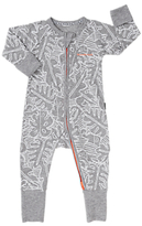 Bonds Baby Ribby Festival of the Leaf Long Sleeve Wondersuit, Grey Marl