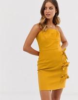 Asos Design DESIGN cami mini sundress with bow tied skirt