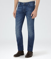 Reiss Reiss Division - Mid Wash Jeans In Blue