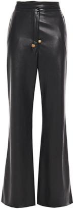 Nanushka Vegan Leather Wide-leg Pants
