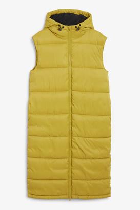 Monki Maxi vest puffer