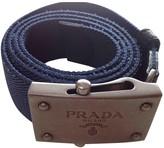 Prada Blue Cloth Belts
