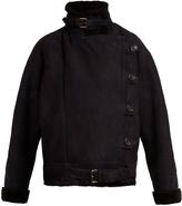 Vanessa Bruno Hakim asymmetric shearling jacket