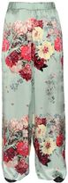 Antonio Marras Floral Printed Silk Twill Pants
