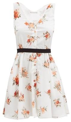 Emilia Wickstead Katelyn Floral-print Mini Dress - White Print