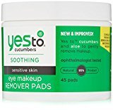 Yes To Carrots Yes To Cucumbers Eye Makeup Remover Pads, 45 Count