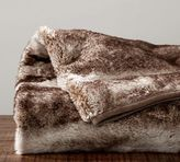 Pottery Barn Faux Fur Throw - Caramel Ombre