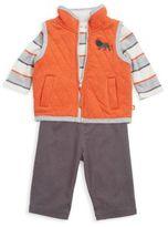 Offspring Three-Piece Cotton Bodysuit, Leggings and Vest Set