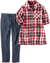 Carter's 2 Piece Plaid Top Set - Plaid - 4