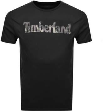 Timberland Pattern Logo T Shirt Black