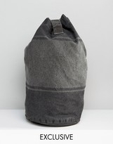 Reclaimed Vintage Duffle Backpack Overdyed Stripe
