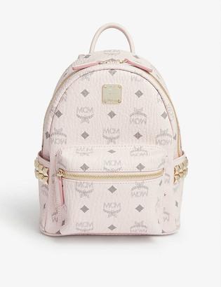 MCM Stark Visetos coated canvas mini backpack