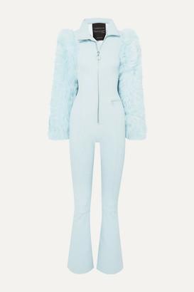 Cordova Chamonix Shearling-paneled Stretch Ski Suit - Light blue