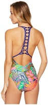Trina Turk Tropic Escape V-Plunge One-Piece Women's Swimsuits One Piece