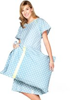 Baby Be Mine Gownies - Designer Hospital Gown Labor Kit (Large/X Large prepregnancy 10-18, Gownie with matching pillowcase)
