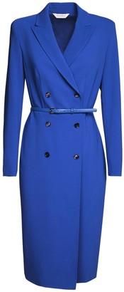 Max Mara Double Breasted Wool Crepe Jacket Dress