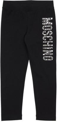 Moschino Embellished Cotton Jersey Leggings