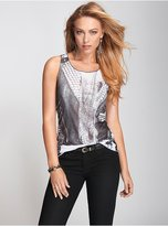 GUESS Flag Graphic Muscle Tank