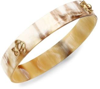 Akola Floral Studded Horn Bangle Bracelet