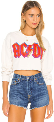 MadeWorn X REVOLVE ACDC Highway To Hell Cropped Sweatshirt