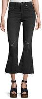 Rag & Bone High-Waist Cropped Flare-Leg Jeans, Blackthorne