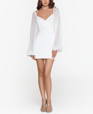 Blondie Nites Juniors' Scuba Crepe Sheath Dress
