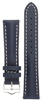 Signature Racing watch band. Replacement watch strap. Genuine Leather. Silver buckle