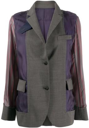 Sacai Fabric Mix Blazer
