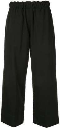 Bassike plain cropped trousers