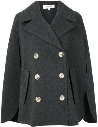 Enfold Double-Breasted Cape Jacket