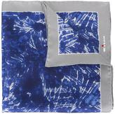 Kiton tie-dye pocket square