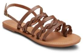 OLIVIA MILLER Follow Me Twisted Strap Sandals Women's Shoes
