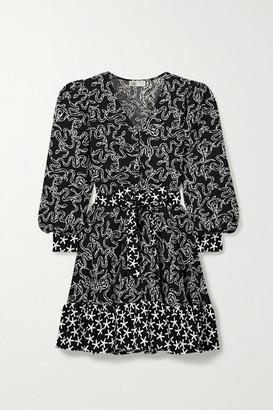 Stine Goya Farrow Belted Printed Cloque Mini Dress
