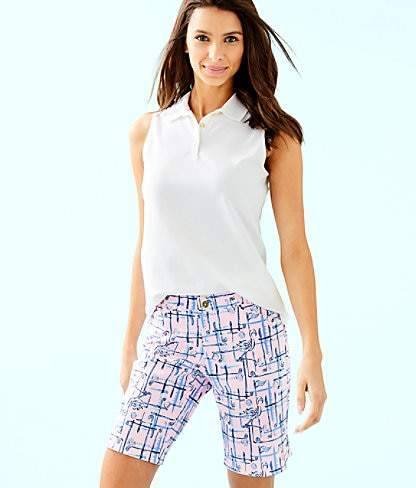 Lilly Pulitzer Luxletic Meredith Sleeveless Polo Top