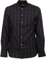 Kitsune Black Ribbed Collar Shirt