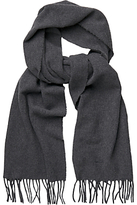 Gant Solid Wool Scarf, Charcoal