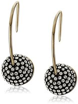 Marc Jacobs Pave Cabochon Hoop Earrings