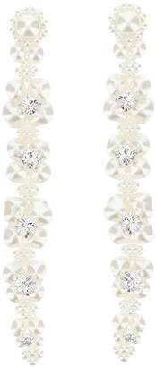 Simone Rocha Cluster Drip Pearl Crystal Earrings
