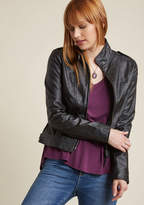 BB Dakota What Motors Most Jacket in Noir in 1X - Moto Jacket by from ModCloth