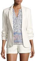 Joie Mehira Pinstripe Blazer, White
