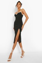 Thumbnail for your product : boohoo Madison Beer Contrast Trim Midi Dress