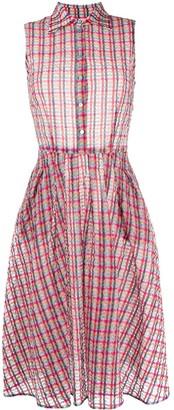 Ultràchic Tartan Flared Midi Dress