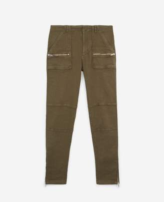 The Kooples Khaki multi-pocket vintage jeans with zips