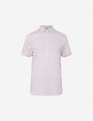 Ted Baker Geometric-print regular-fit cotton shirt